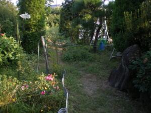 手作りガーデニング前の荒れた庭