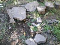 土に埋まっていたブロック