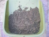 芝の種に被せる砂