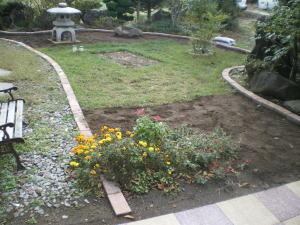 整地及び斑消し、枠の作り直し作業終了後の様子