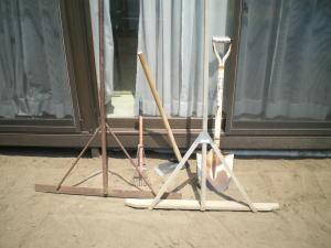 敷石ガーデニングに使う道具